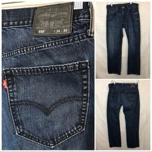 Levi's 559 Relaxed Straight Jeans 34 x34